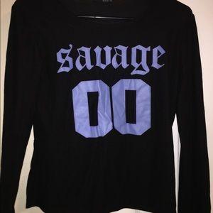 "Tops - ""Savage"" Long Sleeve Shirt"